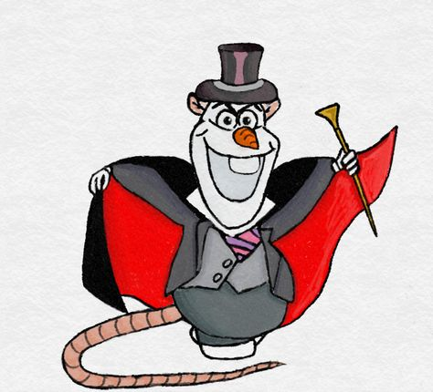 Olaf as Ratigan by TortallMagic on DeviantArt