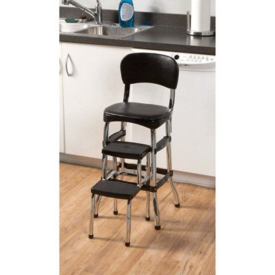 Outstanding Retro Step Stool With Chair In 2019 Kitchen Step Stool Gmtry Best Dining Table And Chair Ideas Images Gmtryco