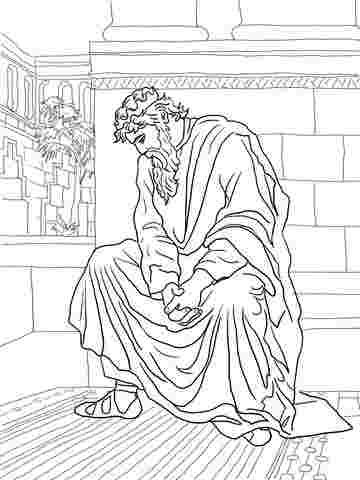 Coloring Festival Absalom Bible Coloring Pages More Than 25