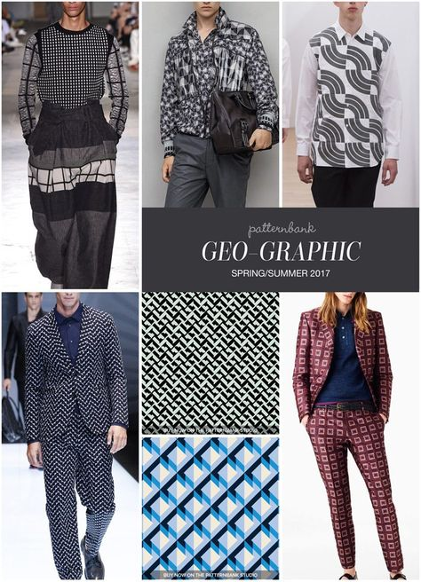 Menswear Spring/Summer 2017 – Key Print and Pattern Highlights - Geo-Graphic