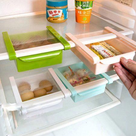 Camper Hacks Discover Refrigerator Fridge Plastic Freezer Drawer Ice Tray Dish Storage Organizer White Walm Fridge Storage Rv Storage Solutions Storage Hacks