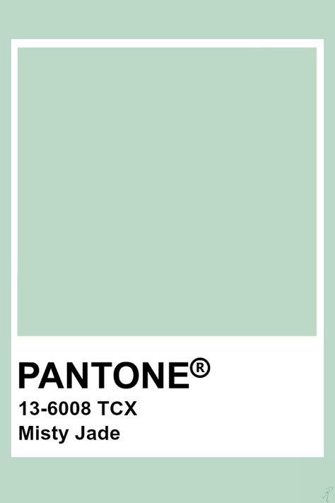 Pantone Misty Jade