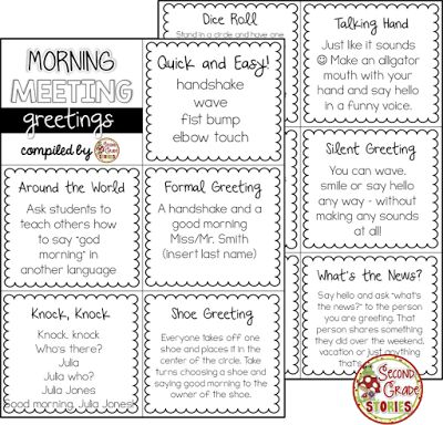 Morning meeting greetings styled are important for a childs morning morning meeting greetings styled are important for a childs morning routine these are just a couple of cute ideas that you could use for a mornin m4hsunfo Choice Image