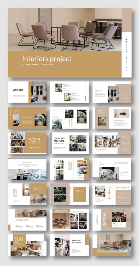 Clean Modern Interiors Design Presentation Template – Original and High Quality PowerPoint Templates
