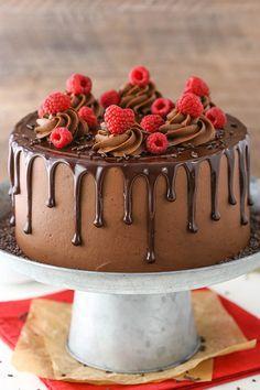 Raspberry Chocolate Layer Cake Receita Bolo De Chocolate