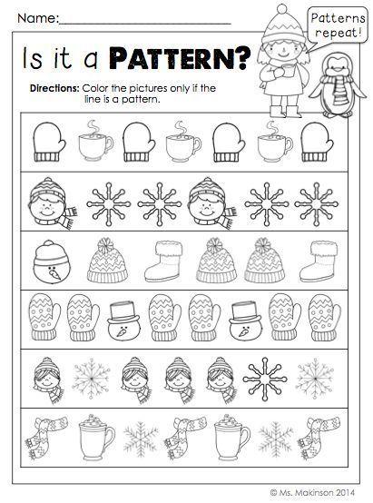 January Printables Kindergarten Literacy And Math Winter Kindergarten Kindergarten Worksheets Fun Worksheets