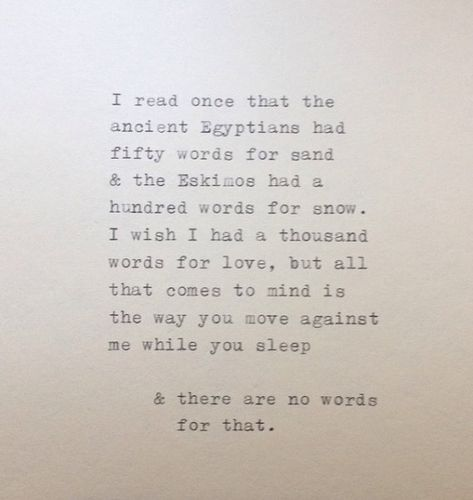 Love Quote Typed on Typewriter and Framed by WhiteCellarDoor