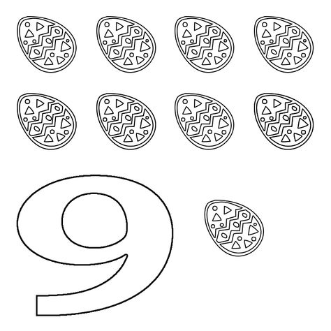 Number 9 Coloring Pages For Adults Printable Coloring Coloring