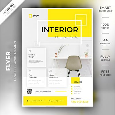 Interior Flyer Template Flyer Design Inspiration Brochure Design Template Flyer Design Templates