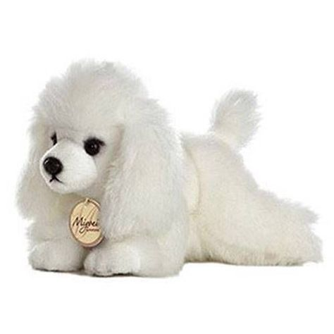 8 Aurora Plush White Poodle Puppy Dog Miyoni Stuffed Animal Toy