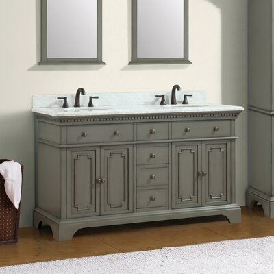 Ophelia Co Ruthann Marble Top 73 Double Bathroom Vanity Set
