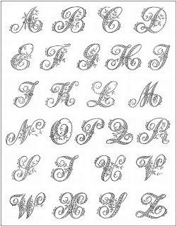 ナチュラルな暮らし 白いイニシャル刺繍 モノグラム図案付き 刺繍 図案 モノグラムフォント 図案