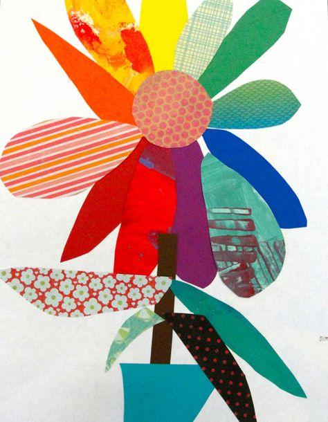 Spring color wheel flower