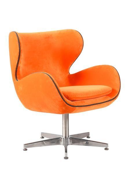 Orange Kapow Velvet Chair Velvet Chair Trendy Chairs Leather
