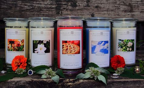 This is our spring 5 pack that each have been selected by our staff here at JewelryCandles.com !    The 5 pack comes with an Apple Pie, Fresh Cut Flowers, Fresh Linen, Gardenia and a Jasmine candle!  Remember all our candles are hand poured and made of 100% soy wax.     Hidden within each of our candles is a jewel that can be valued from $10 to upwards of $7500!
