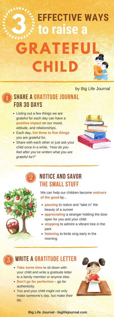 3 Effective Ways to Raise a Grateful Child