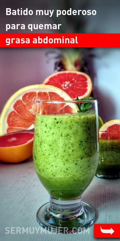 Batidos verdes para quemar grasa abdominal rapidamente