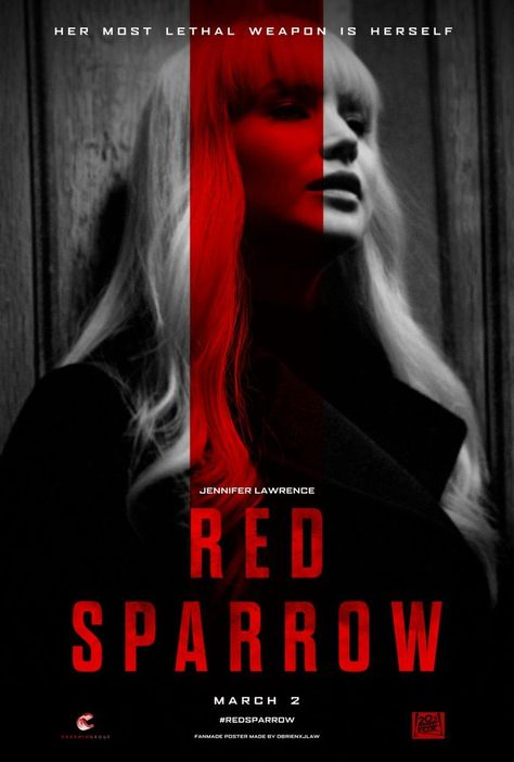 Check out my review for Jennifer Lawrences new Russian spy thriller Red Sparrow!