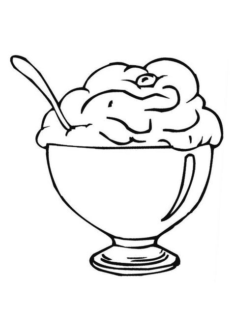 Coloring Pages Of Ice Cream Cup Ice Cream Coloring Pages Fruit