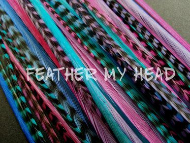 Feather hair extensions do it yourself diy kit 16 pc thin feather hair extensions do it yourself diy kit 16 pc thin feathers solutioingenieria Gallery