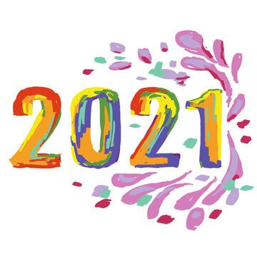 2021 Painting Effect Hand Drawn Illustration 2021 New Year Happy Png Transparent Clipart Image And Psd File For Free Download In 2020 New Year Clipart Clip Art Happy Paintings