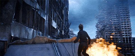 Tris jump GIF from Insurgent