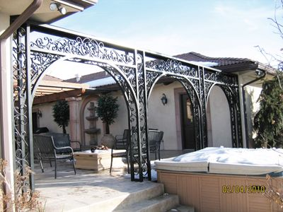 Custom Built Wrought Iron Steel Gazebos Pergolas Arbors And