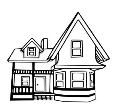 Coloring Page Base House Colouring Pages Disney Up House