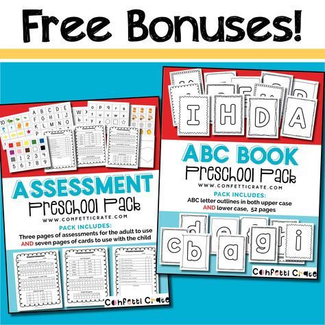 Easy Preschool Curriculum for Homeschool, First Semester - 16 weeks (printable)