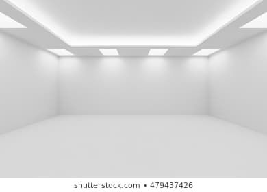 Abstract Architecture White Room Interior Wide Empty White Room