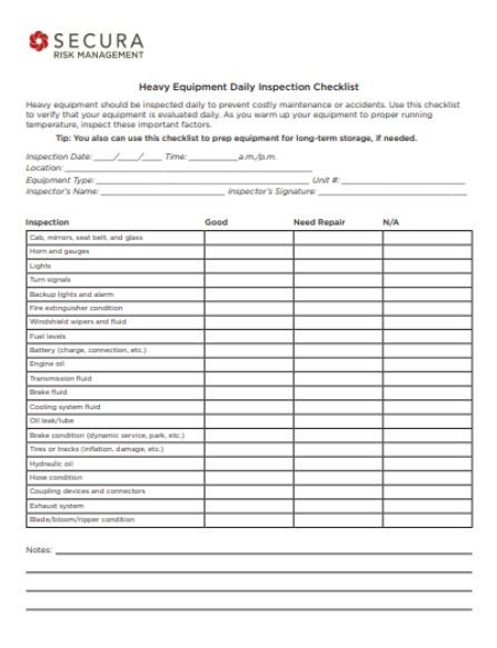 Equipment Maintenance Log Template: 20+ Free Templates in