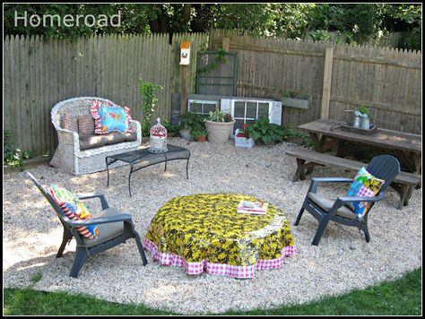 homeroad: Wooden Fire Pit Cover