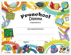 6 Best Images of Free Printable Preschool Diplomas Templates - Free Printable Kindergarten Graduation Certificate Template, Free Printable Preschool Diplomas and Preschool Graduation Certificate Template Free