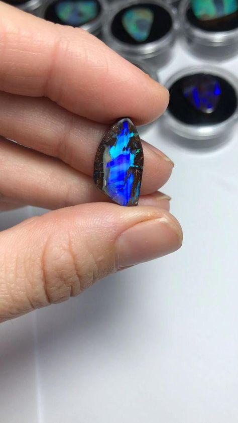 opal jewelry Amazing electric Australian Boulder Opal from our Jundah mine, QLD Australia