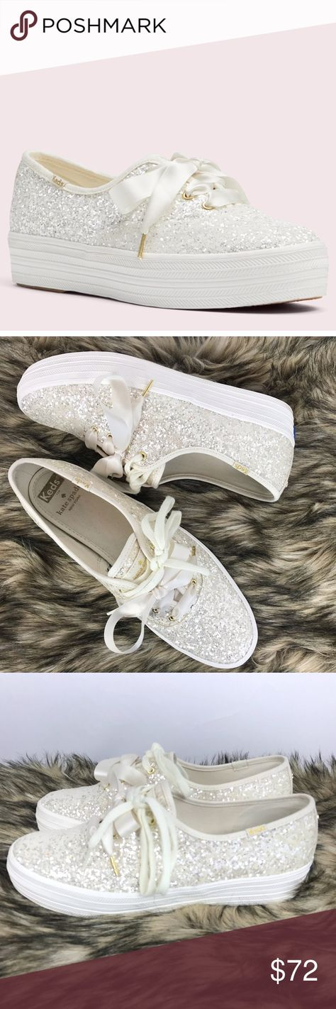 5deea10f2214 Kate Spade Keds Triple Glitter Sneakers Size 9 These are barely worn and in  very nice