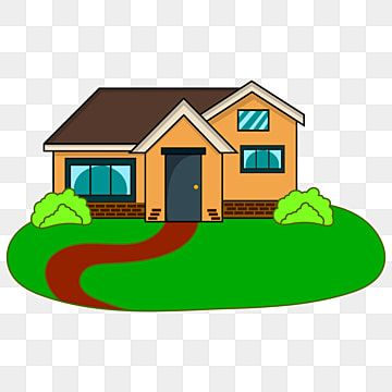 Cartoon Of A Country House Small Village Vector House Clipart House Villa Png And Vector With Transparent Background For Free Download In 2021 Small House Cartoon House House Clipart
