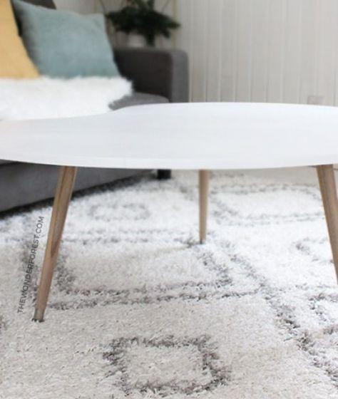 DIY Mid Century Modern Coffee Table (Under $50 | Mid ...