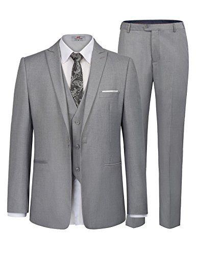PAUL JONES Men/'s Business Suit Vests Slim Fit 3 Button Formal Waistcoat