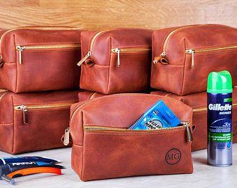Dopp Kit Bag Groomsmen Gift Leather Toiletry Bag with Monogram Mens  Toiletry Bag Leather Custom Dopp ... 80d82968ae