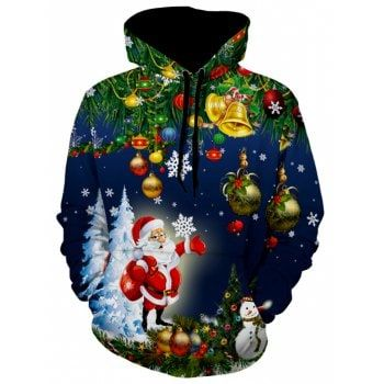 b073401ada Free shipping  74% OFF  2018 Christmas Tree Jingle Bells Santa Christmas  Hoodie in NAVY BLUE XL with only  22.44 online and shop other cheap Hoodies  on sale ...