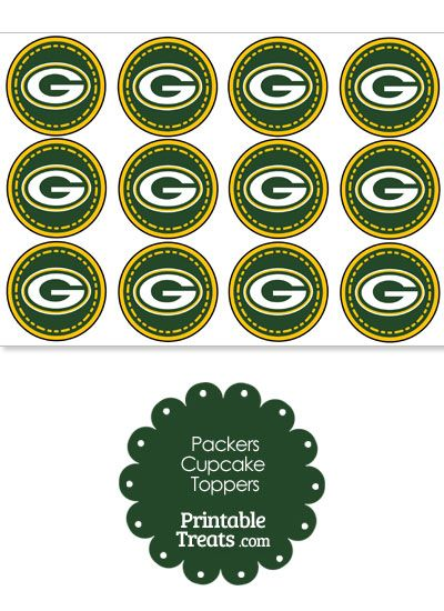 Are the Packers your favorite NFL team? If so, you'll love these printable Packers logo cupcake toppers you can print and pop on top of cupcakes and party food picks. These printable Packers