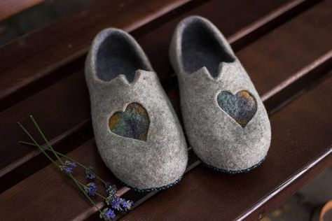 d915d898ac00b Mindfulness gift for her felted wool slippers felted shoes woolen ...