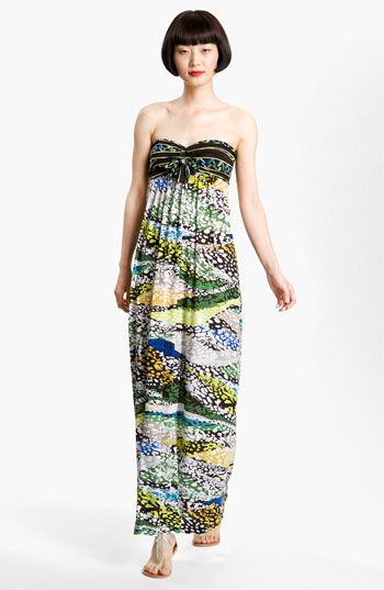 BCBGMAXAZRIA Print Bandeau Jersey Maxi Dress available at Nordstrom