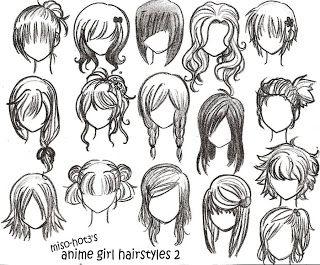 Doll Hairstyle Ideas Felt Fabric Needle Felted Hair Drawings Anime Girl Hairstyles