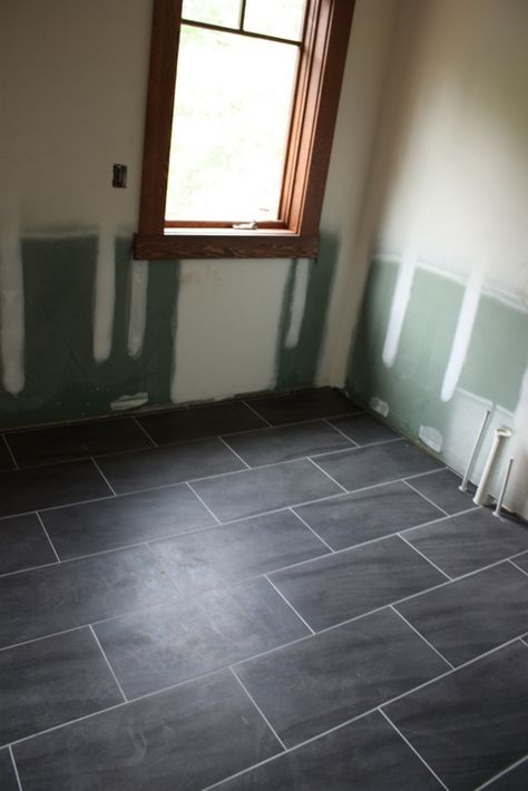For The Kitchen Option Two Large Rectangular Tile Love The Gray