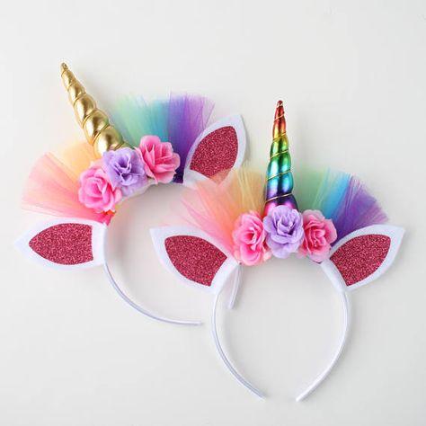 Rainbow Unicorn Headband Girls Unicorn Headband Adult