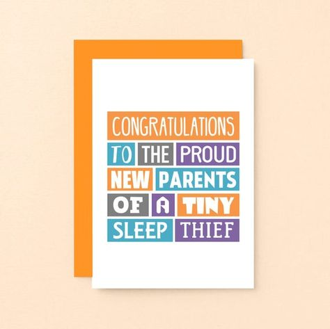 Funny New Baby Card - New Parents Card - Funny Newborn Card - Gender Neutral Card - New Baby Gift - Baby Congratulations - SE0019A6