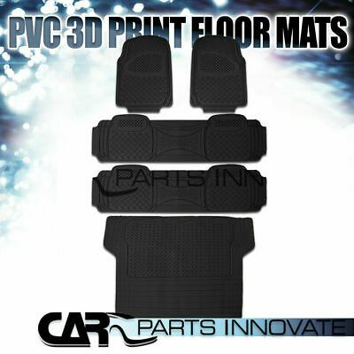 Ad Ebay 5x Semi Custom Black Heavy Duty Pvc Rubber Front Rear Cargo Floor Carpets Mats In 2020 Rubber Floor Mats Rubber Flooring Custom Vans