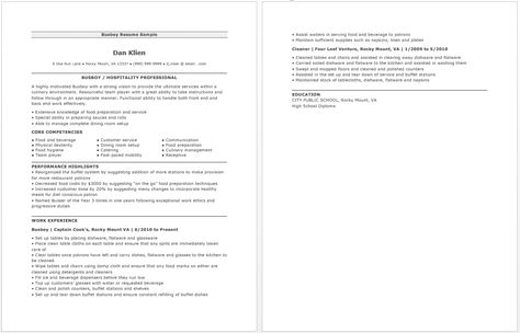 Busboy Resume resume sample Pinterest - enterprise architect resume sample