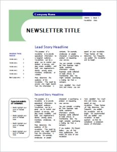 4 pages newsletter template
